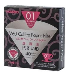 Hario papírové filtry pro V60-01 40 ks