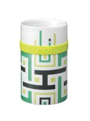 PO: porcelánový hrnek Green geometric 250ml