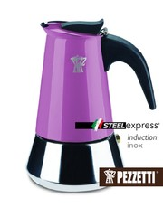 Moka konvice Pezzetti SteelExpress 6 šálků fialová