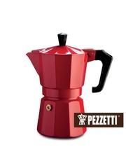 Moka konvice Pezzetti ItalExpress 3 šálky červená