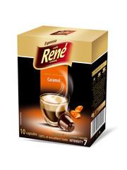 René Espresso káva příchuť Caramel 10x kapsle pro Nespresso