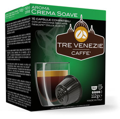 Tre Venezie CREMA SOAVE kapsle pro kávovary Dolce Gusto 16 ks